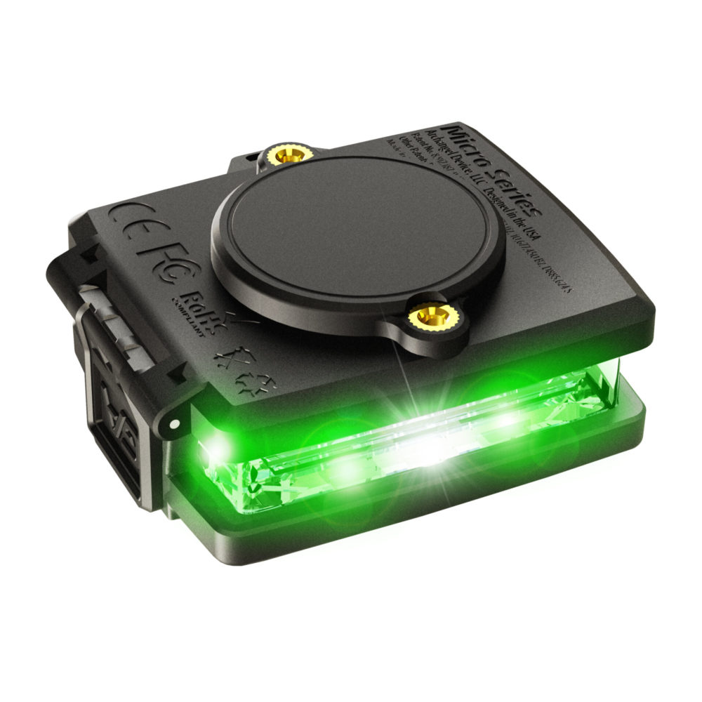Green/Green Wearable Safety Light